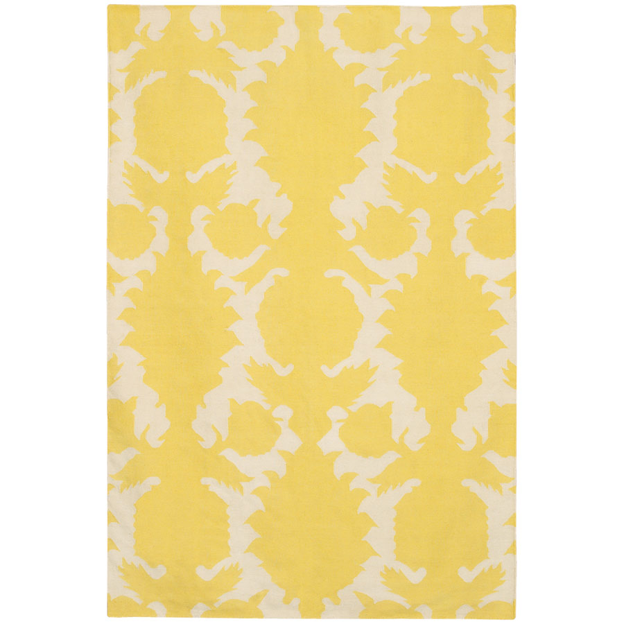 Chandra Flock 5 X8 Modern Yellow Rug Collectic Home