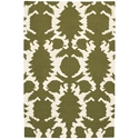 Flock 8'x10' Rug in Green and Cream