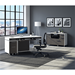 BDI Format Charcoal + White Contemporary Office Set