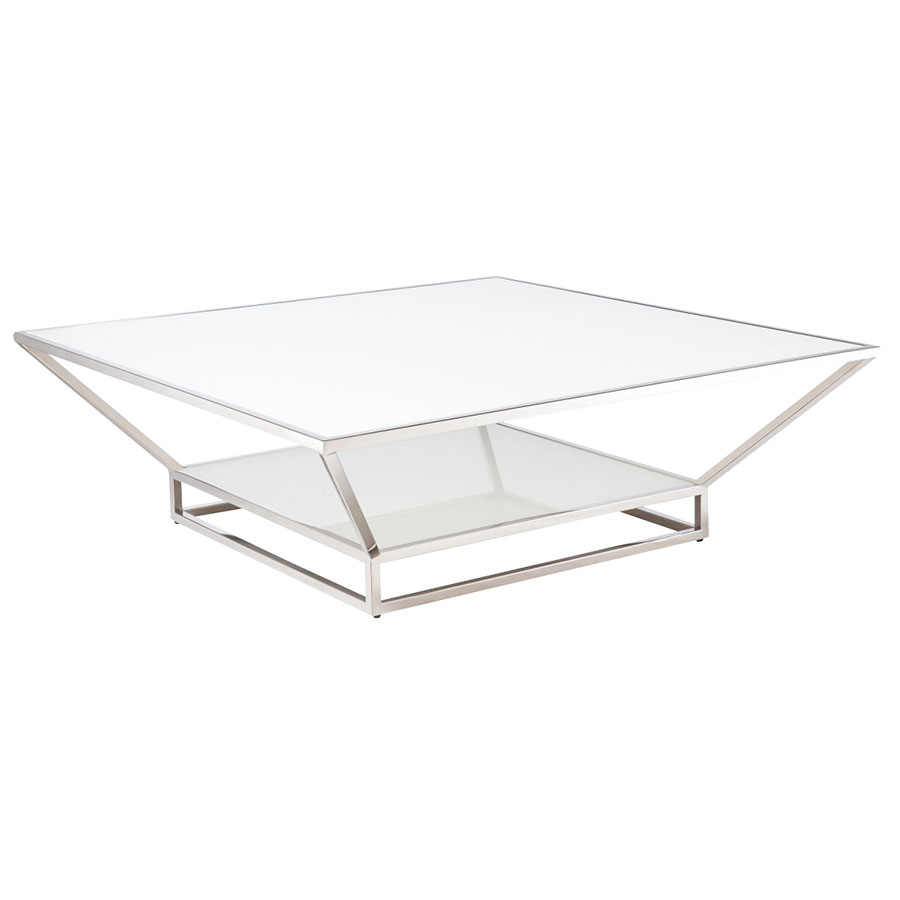 Francine square modern cocktail table collectic home for Square cocktail table