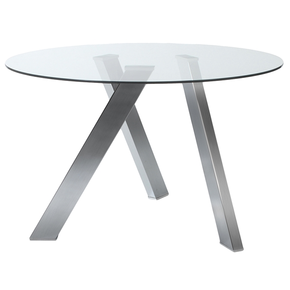 Fridrika Dining Table with Brushed Steel Legs