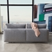 Frode Modern Sleeper Sofa by Innovation Living in Granite Fabric - Back View