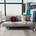 Frode Modern Sleeper Sofa by Innovation Living in Granite Fabric - Front View