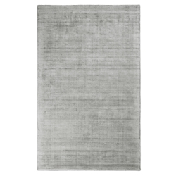 Gus* Modern 5x8 Fumo Rug in Feather Gray Viscose