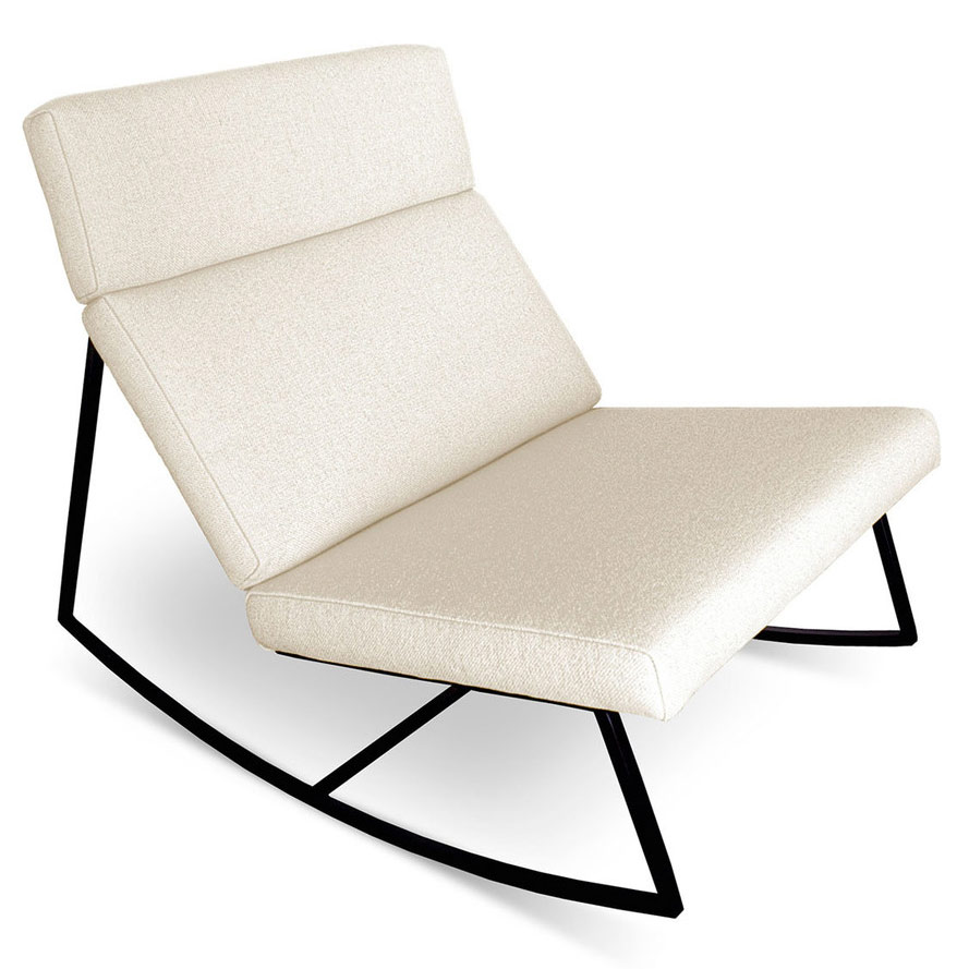 GT Rocker Contemporary Lounge Chair in Cabana Husk by Gus* Modern