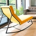 GT Rocker Contemporary Lounge Chair in Laurentian Citrine - Back View