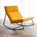 GT Rocker Contemporary Lounge Chair in Laurentian Citrine - Lifestyle