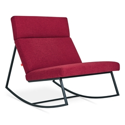 GT Rocker Contemporary Lounge Chair in Stockholm Merlot by Gus* Modern