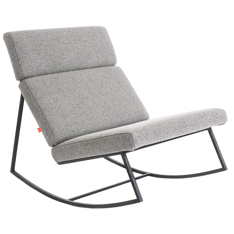 GT Rocker Contemporary Lounge Chair in Varsity Charcoal by Gus* Modern