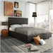 Gastown Amisco Bed in Street Fabric