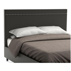 Gastown Contemporary Upholstered Headboard in Street Fabric