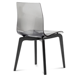 Domitalia Gel-L Side Chair in Smoke + Anthracite