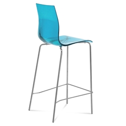 Gel-Sga Blue Modern Bar Stool by Domitalia