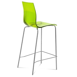 Gel-Sga Green Modern Bar Stool by Domitalia