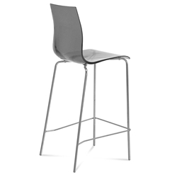 Gel-Sga Smoked Modern Bar Stool by Domitalia