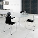 Gel-t Dining Chair - Black + Chrome