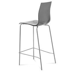 Geoffrey Smoked Modern Bar Stool by Domitalia