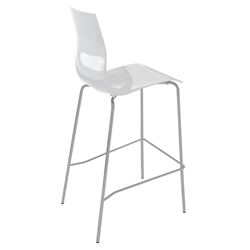 Geoffrey White Modern Bar Stool by Domitalia