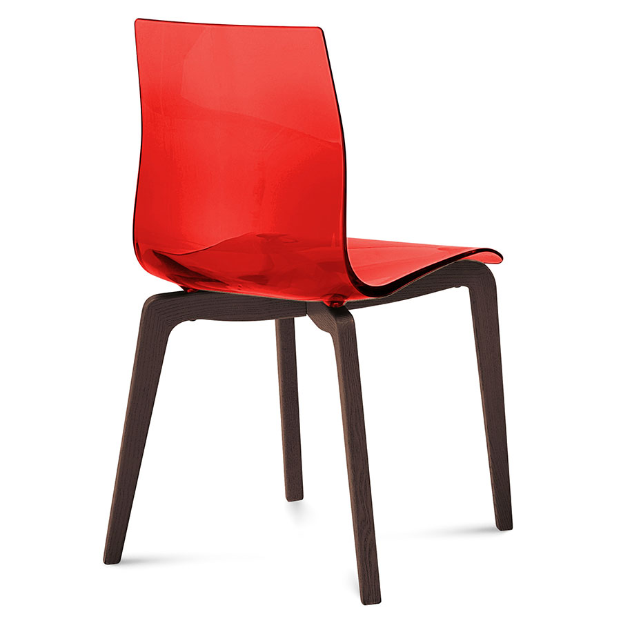 Modern dining chairs geoffrey red side chair eurway for Red modern dining chairs