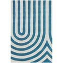 Geometric 3'x5' Rug in Blue