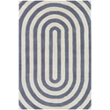 Geometric 3'x5' Rug in Grey and Cream