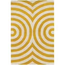 Geometric 3x5 Rug in Yellow