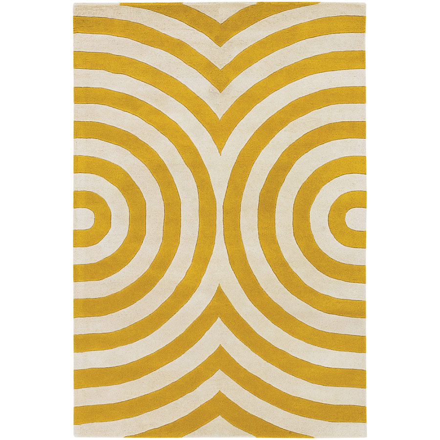 Geometric 3'x5' Rug in Yellow