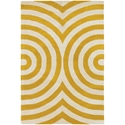 Geometric 5'x8' Rug in Yellow