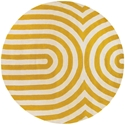 Geometric Round Rug in Yellow