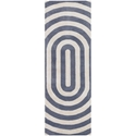 Geometric Runner Rug in Grey