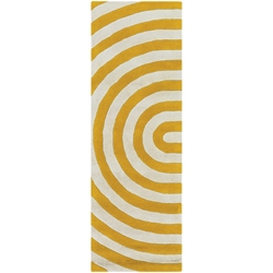 Geometric Runner Rug in Yellow