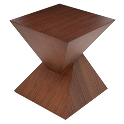 Giza Tan Walnut Wood Modern Sculptural Side Table