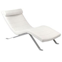 Gilda Chaise Lounge in White