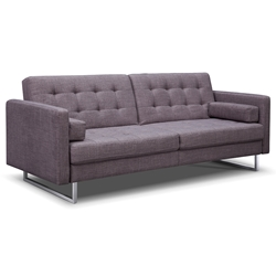 Giovanni Modern Gray Fabric Sofa Bed by Whiteline
