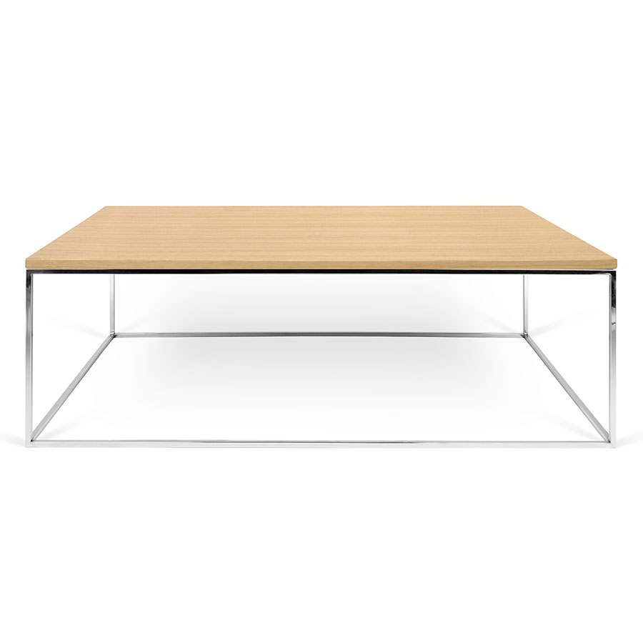 Gleam Oak Chrome Long Modern Coffee Table By Temahome Eurway