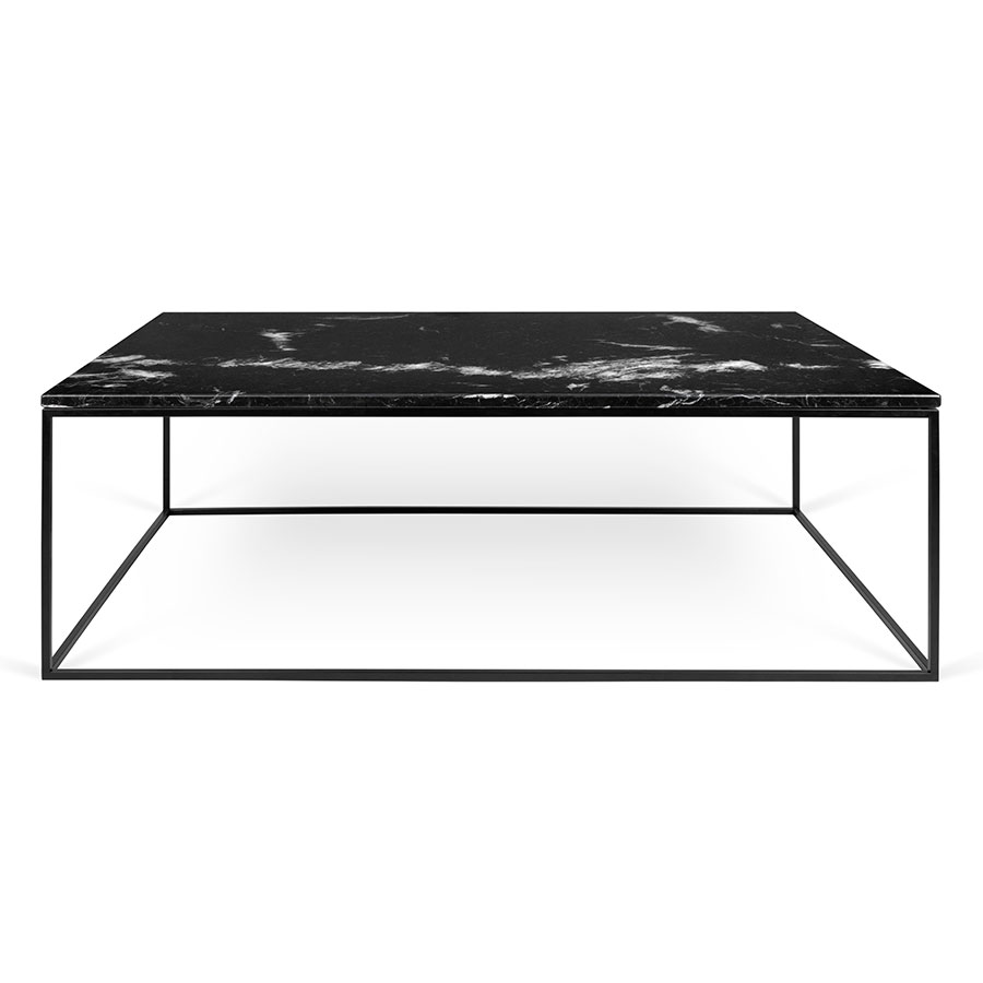 black marble coffee table TemaHome Gleam Long Black Marble Modern Coffee Table | Eurway black marble coffee table