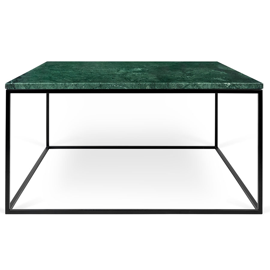 Gleam Green Marble Black Coffee Table by TemaHome Eurway