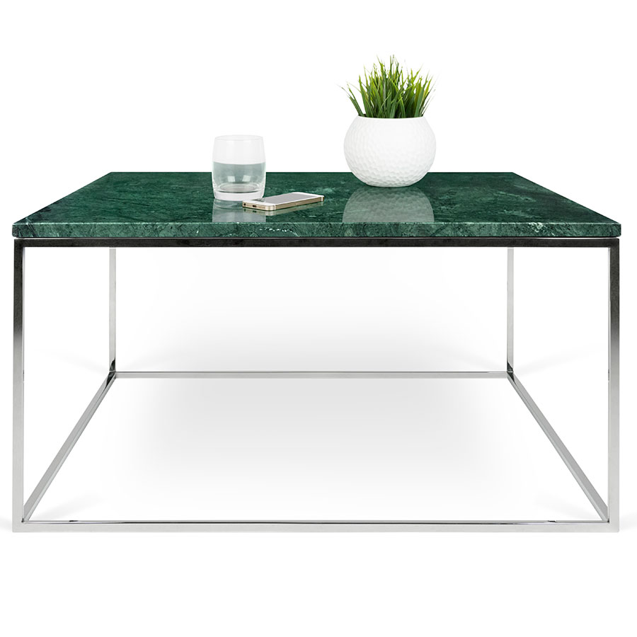 Gleam Green Marble Chrome Coffee Table By Temahome Eurway