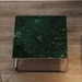 Gleam Green + Chrome Square Modern Coffee Table