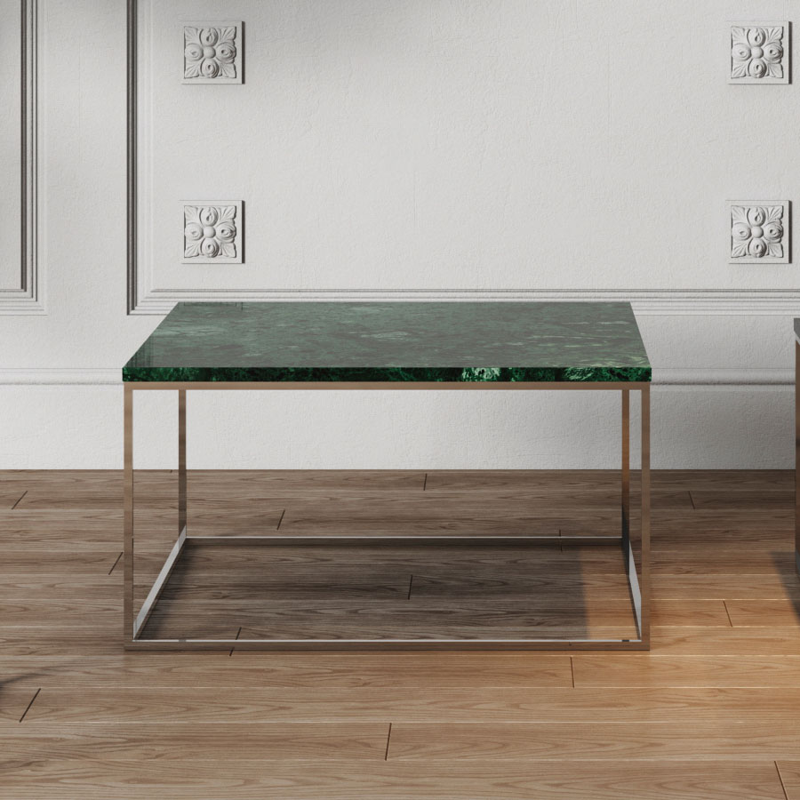 Well known Gleam Green Marble + Chrome Coffee Table by TemaHome | Eurway VH93