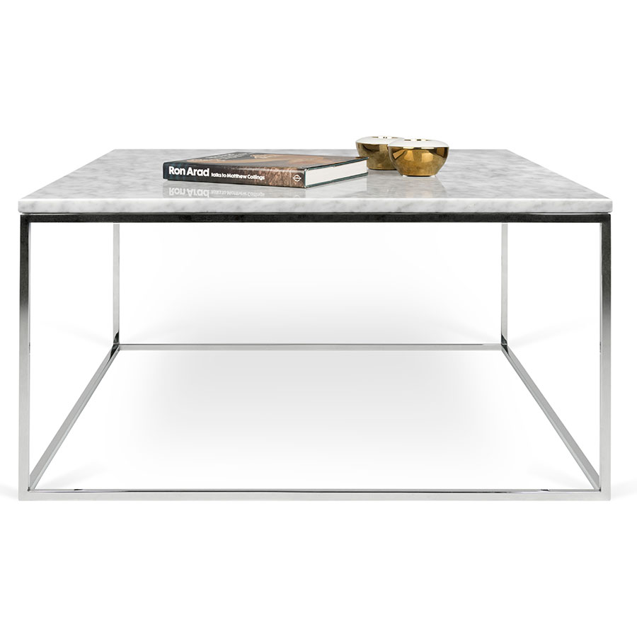 Gleam white marble chrome coffee table by temahome eurway gleam white marble top chrome metal base square modern coffee table by temahome watchthetrailerfo