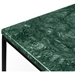 Gleam Green Marble Top + Black Metal Base Square Contemporary End TableT