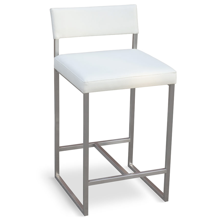 Graph Contemporary Counter Stool by Gus Modern in Snow
