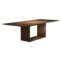 "Modloft Black Greenwich 106"" Modern Dining Table in Walnut Wood"