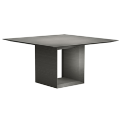 "Greenwich 55"" Square Modern Dining Table in Acier Gray by Modloft Black"