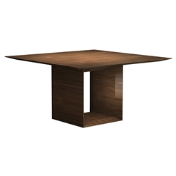 "Greenwich 55"" Square Modern Dining Table in Walnut by Modloft Black"