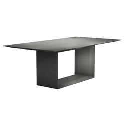 "Modloft Black Greenwich 87"" Modern Dining Table in Acier Gray Wood"