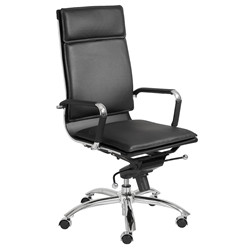 Gunar Pro High Back Office Chair in Black by Euro Style