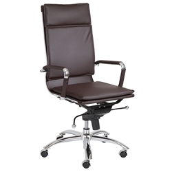 Gunar Pro High Back Office Chair in Brown by Euro Style