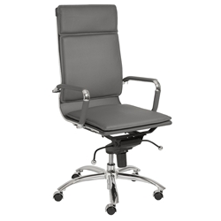 Gunar Pro High Back Office Chair in Gray by Euro Style